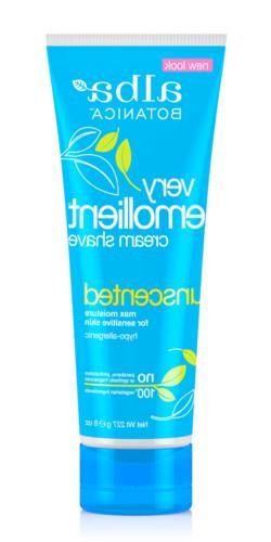 Alba Botanica: Very Emollient Cream Shave Unscented, 8 oz