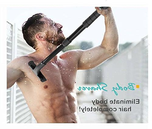 Back Shaver Handle - Includes 2 Safety Blades Best Body Kit Personal Painless Trimmer for