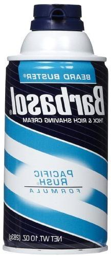 Barbasol Pacific Rush Thick and Rich Shaving Cream, 10 Ounce