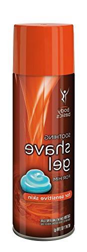 Body Basics Soothing Shave Gel for Sensitive Skin, Him, 7 Fl