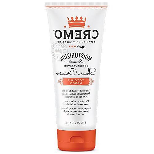 Cremo Coconut Mango Shave Cream, Shaving Cream Fights Cuts And Razor 2-Pack