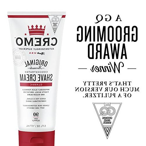 Cremo Original Astonishingly Superior Cream Fights And Razor Burn, FL oz.,
