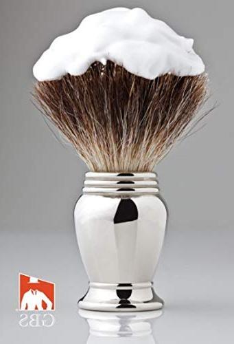 Merkur Deluxe Travel Dopp Kit Edge Safety Razor, Shaving Brush, comes Block Leather Bag