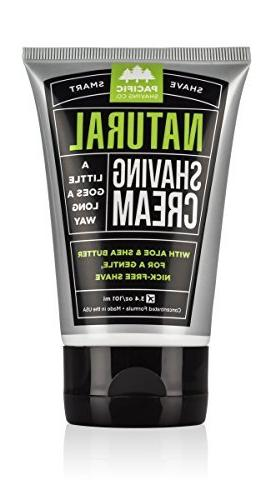 Pacific Shaving Company Natural Shaving Cream, 3.4 Ounce by