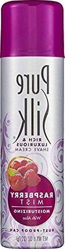 Pure Silk Shave Raspberry Size 8z Pure Silk Shave Strawberry