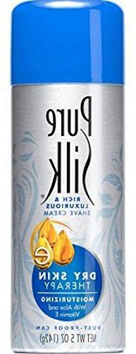 Pure Silk Shaving Cream 5 oz. Dry Skin Therapy w/Aloe and Vi