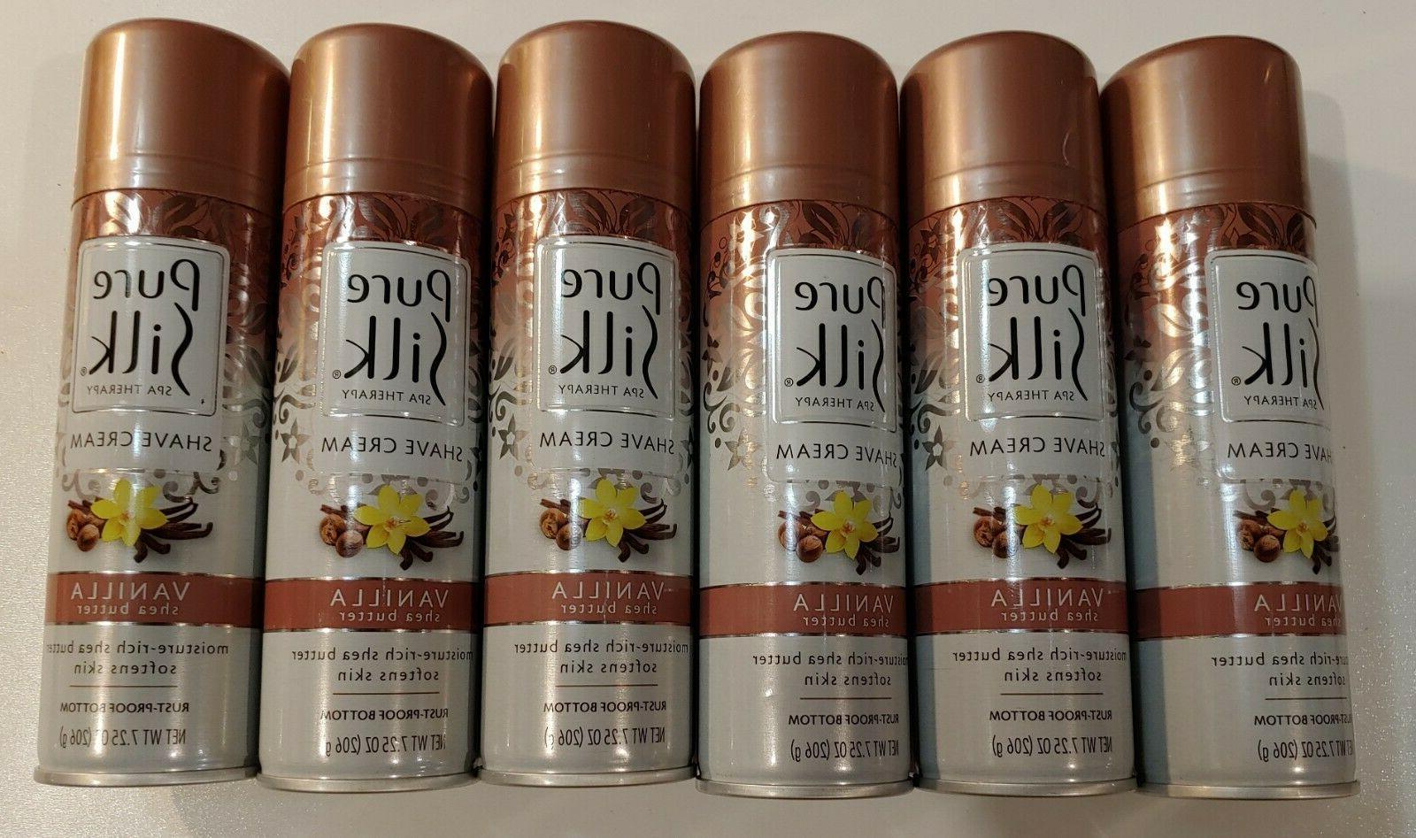 Pure Silk Vanilla Shea Butter Spa Therapy Shave Cream for Wo