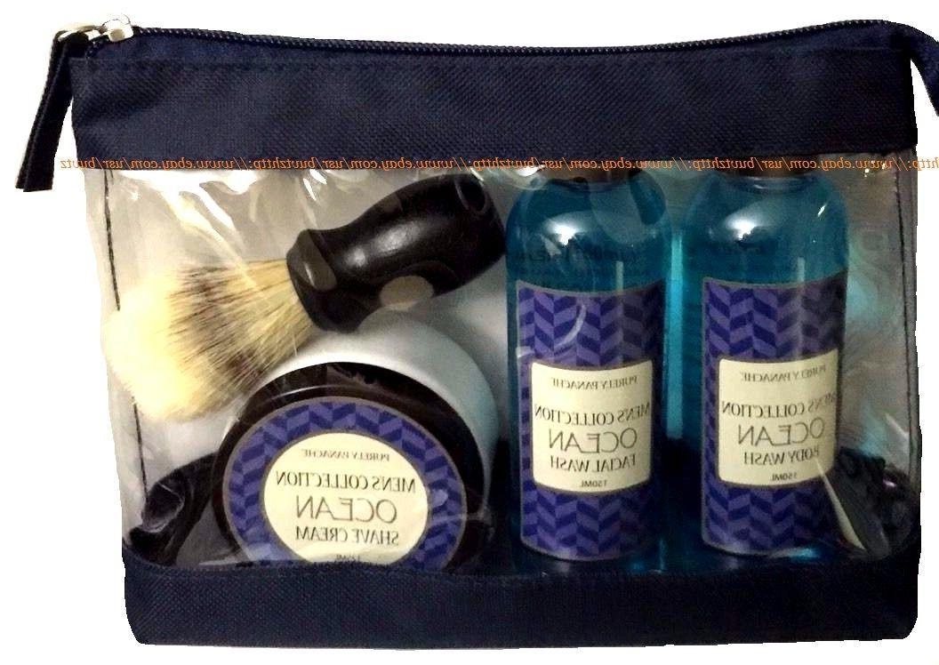 Shave Travel Kit PURELY PANACHE Shaving Brush Shave Cream Bo