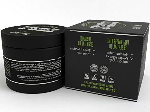 Shaving - Shaving Cream oil Kaffir & Bergamot thick lathering luxury - & Refreshing Shave Cream Paraben & Sulfate Free -