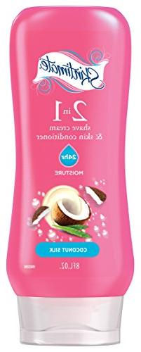 Skintimate 2-In-1 Moisturizing Shave Cream for Women with Sk
