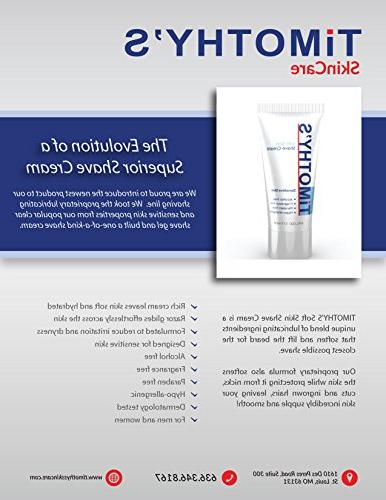 Timothy's Sensitive Skin Cream, Unscented, Fragrance Free, Paraben Free