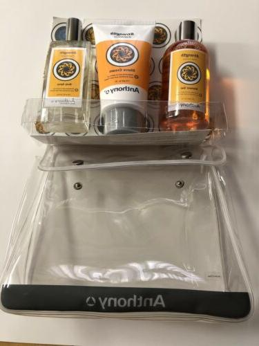 ANTHONY 3-Piece Gift Set: Shave Shower Gel, Body NEW
