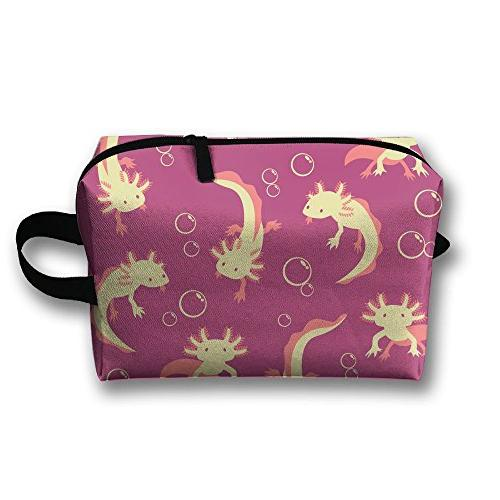 axolotl pink bag train case