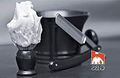 GBS Bristle Shaving Handle! Use Soap or Foam - Compliments All and Mugs! Ultimate Best Wet