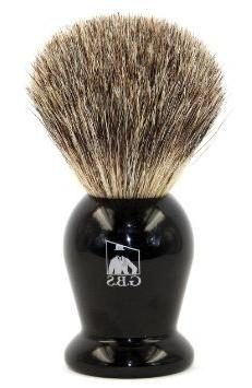 GBS 100% Pure Badger Bristle Shaving Brush Black Handle! Use