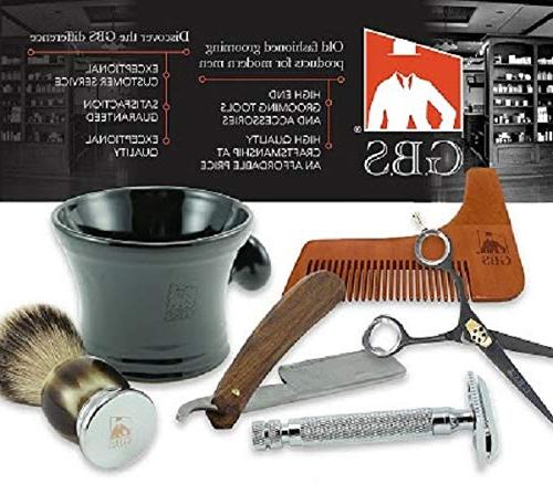 Bristle Travel Shaving Silver Metal Compliments Razor For Best Shaving Experience
