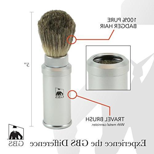 badger bristle shaving brush gray