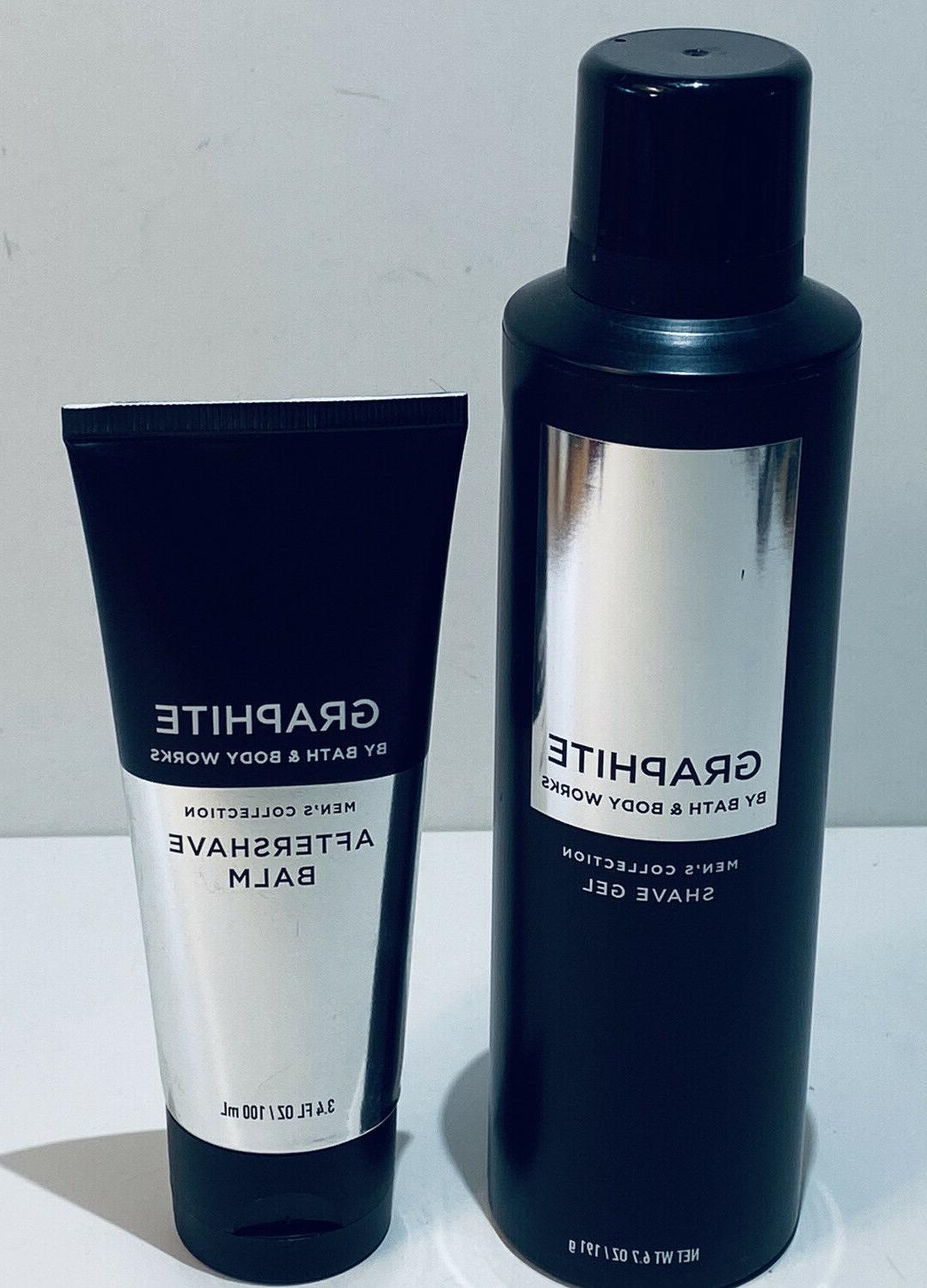 Bath Body GRAPHITE Shaving 6.7oz Shave 3.4oz Aftershave