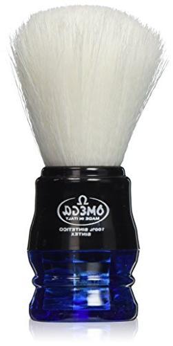 Omega Blue Handle Syntex Synthetic Fibre Shaving Brush Vegan