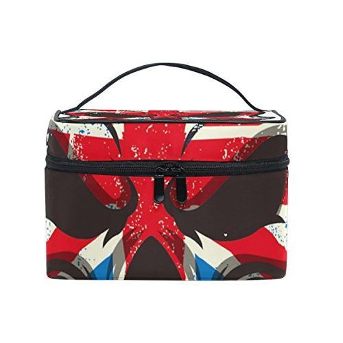british flag skull bags toiletry
