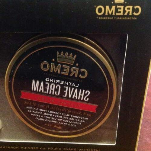 Cremo Classic Kit - Blend Lathering Shave Cream Horsehair Brush