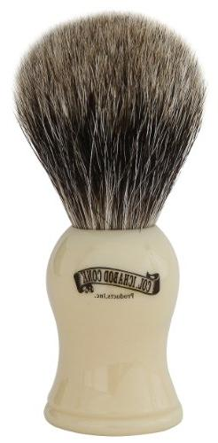 Colonel Conk Products 907 Pure Badger Brush with faux Ivory
