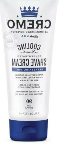 Cremo Cooling Concentrated Shave Cream, 6 fl. oz. New & Seal