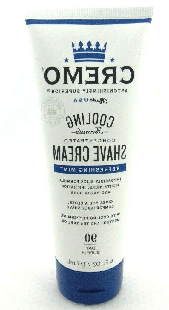 Cremo Cooling Concentrated Shave Cream   6 Ounce  SEALED