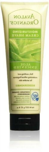 Avalon Organics Unscented Aloe Moisturizing Cream Shave, 8 o