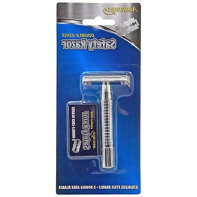 Assured Razors with 5 Blades & Shaving Cream Get
