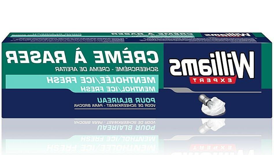 expert men s shaving cream menthol ice