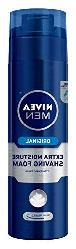 NIVEA MEN Extra Moisture Skin Guard Shaving Foam, 8.7 oz Bot