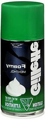 Gillette foamy shave Cream, menthol flavor - 11 oz