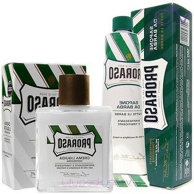 PRORASO Green Shaving Cream + After Shave Balm - Eucalyptus