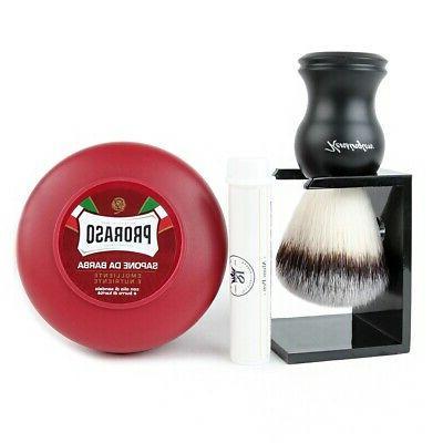 kengsington synthetic bristle shaving brush and poraso