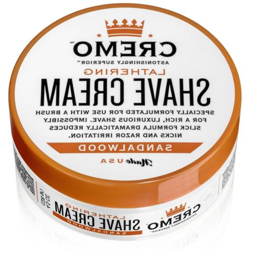 Cremo Lathering Shave Cream, Specially Formulated for Use Wi