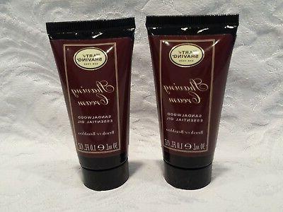 lot 2 shaving cream sample sandalwood oil
