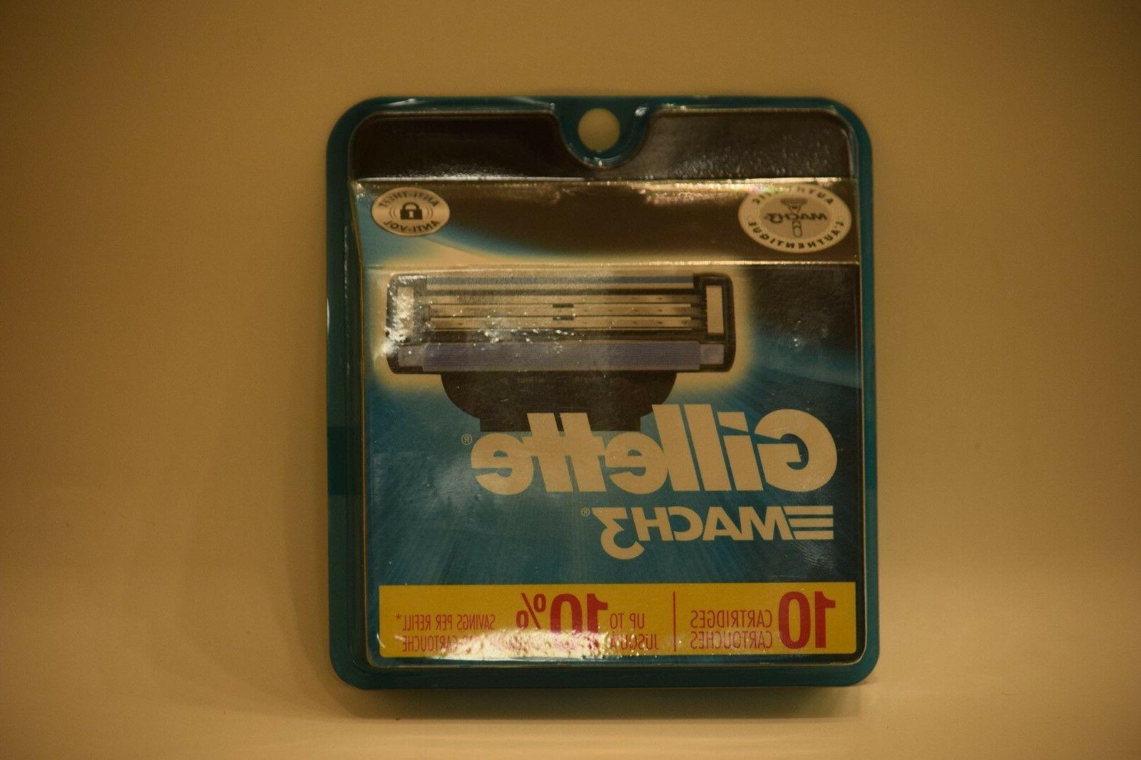 mach3 refill cartridges 10 count razor blade