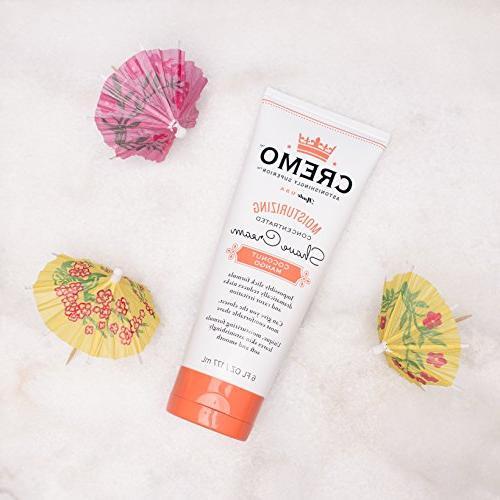 Cremo Coconut Mango Moisturizing Shave Cream, Astonishingly Shaving Cream For Fights Nicks, Razor 6
