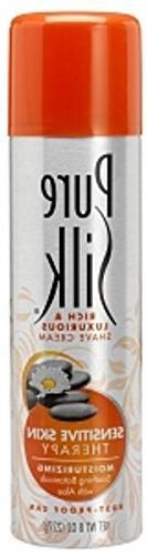 Pure Silk Moisturizing Shave Cream for Women, Sensitive Skin