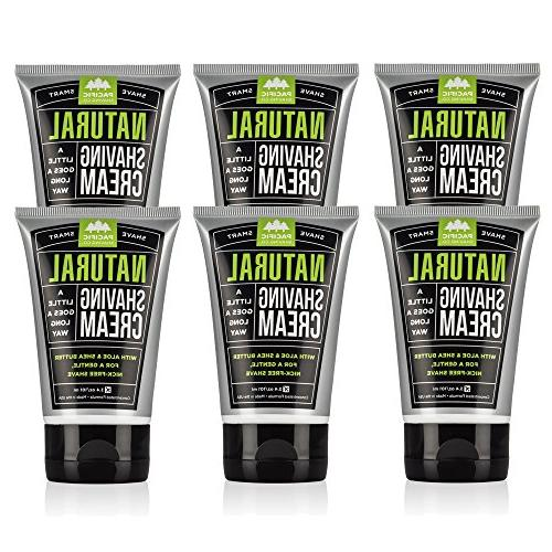 natural shaving cream 6 pack