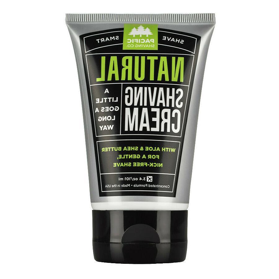 new natural shaving cream 3 oz