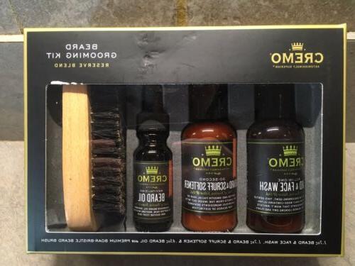 reserve beard 4 piece beard grooming kit