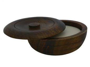 sandalwood shaving soap wooden bowl
