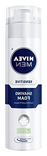 NIVEA MEN Sensitive Shaving Foam with Skin Guard, 8.7 oz Bot