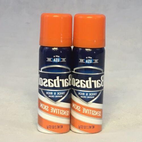 6 Pack Barbasol Sensitive Skin Thick & Rich Shaving Cream 2