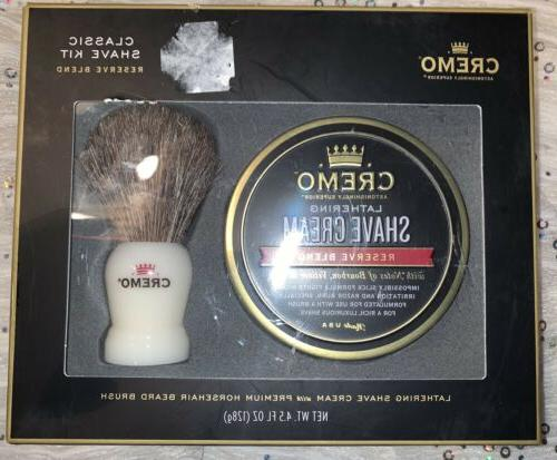 shave cream and brush set 4 5