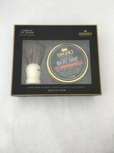 shave cream and brush set new