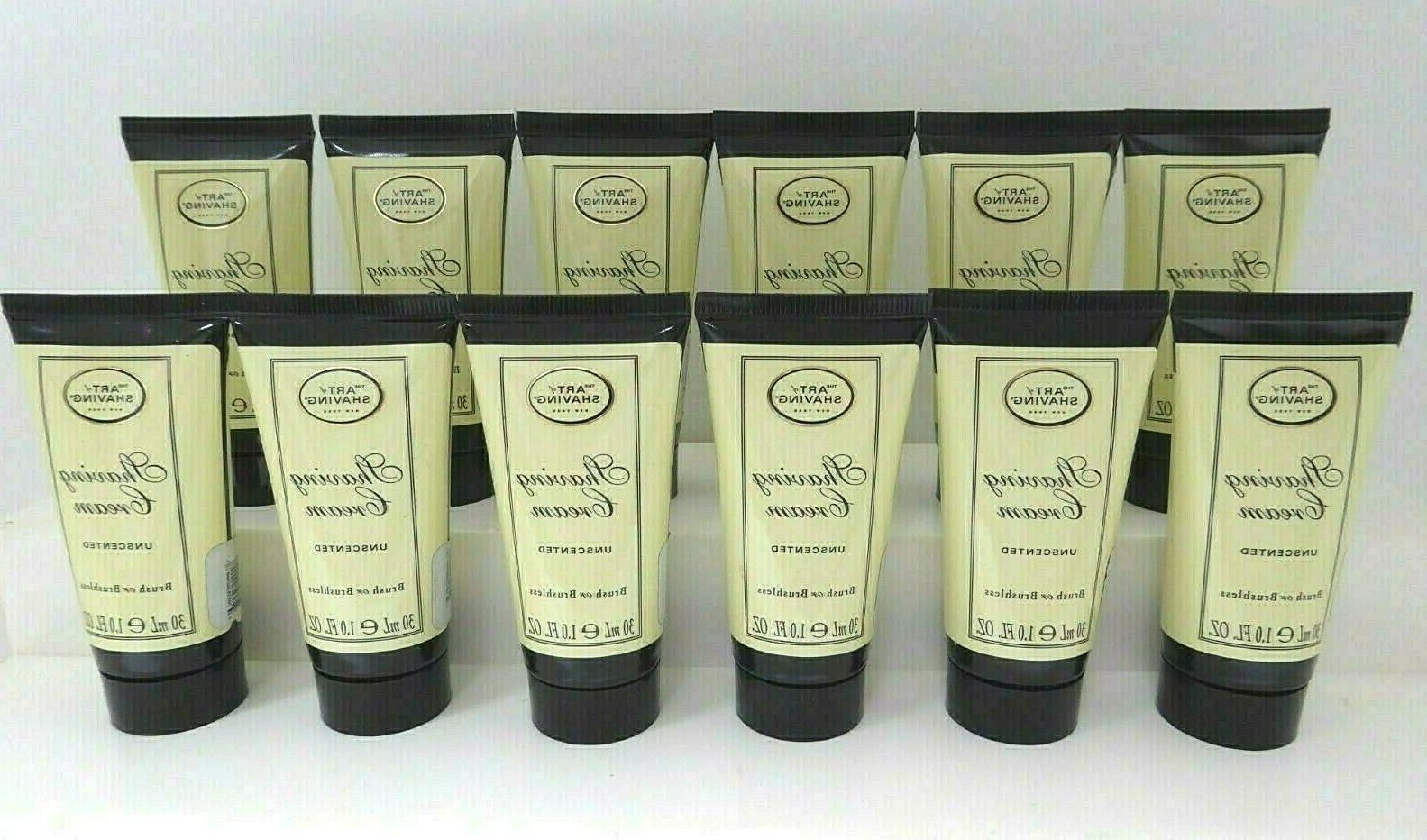 shave cream unscented travel size 1oz ea