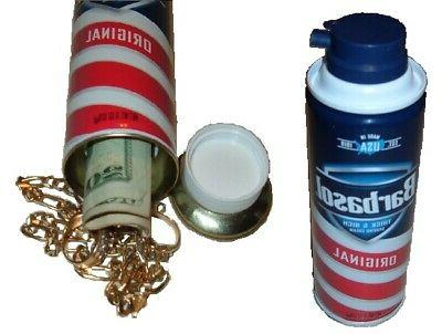 shaving cream diversion can safe jewelry stash